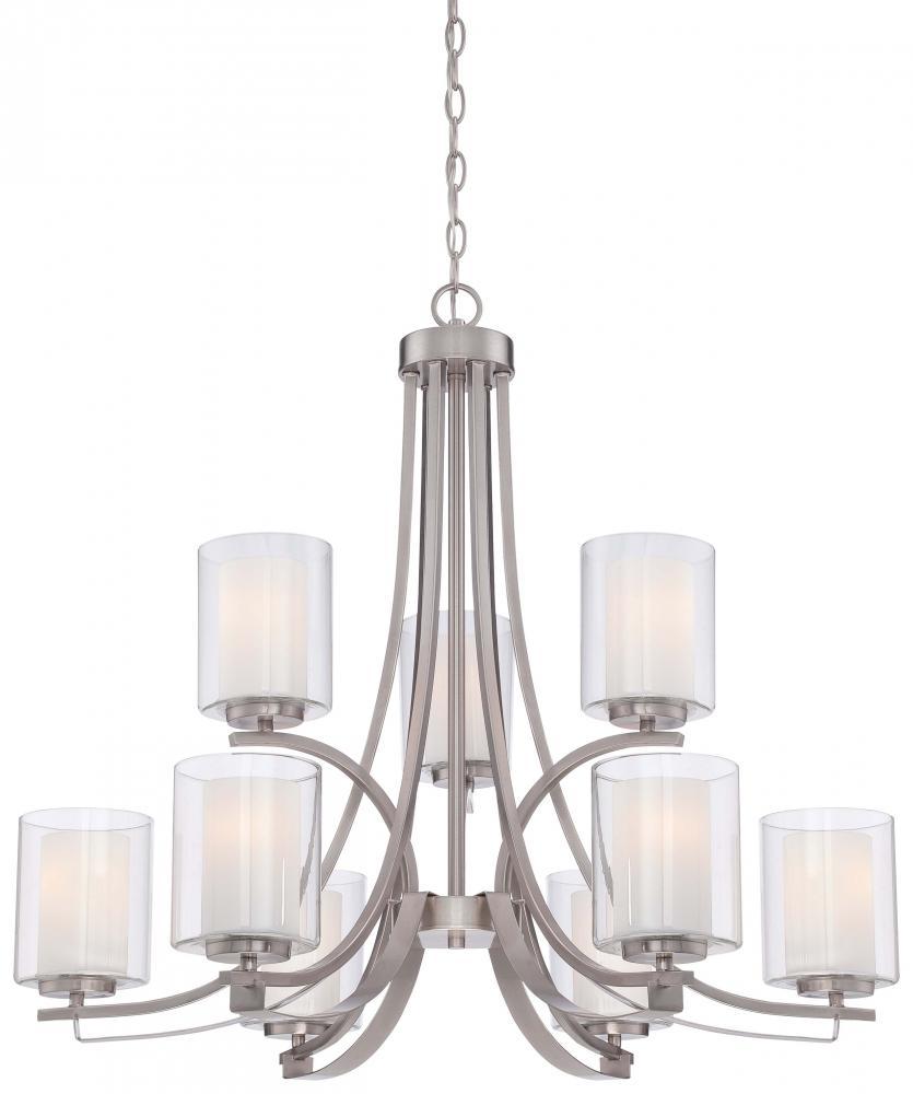 Details About Minka Lavery Lighting 4109 84 Parsons Studio Chandelier Brushed Nickel