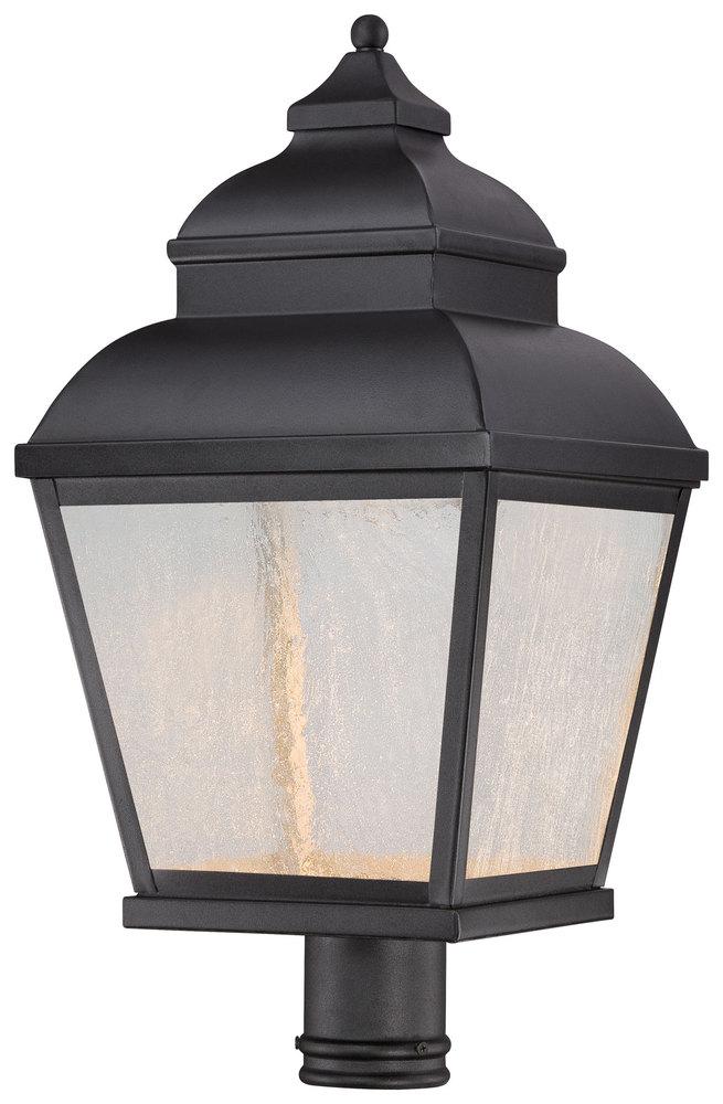 Black 9066-66 Minka Lavery Bay Hill 1 Light Post Mount