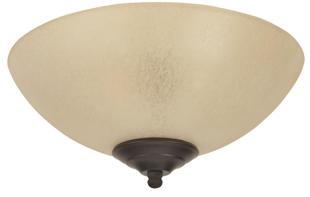 Craftmade Lk715 Led 2 Light Bowl Fan Light Kit With Tea Stained Glass 647881095413 Ebay
