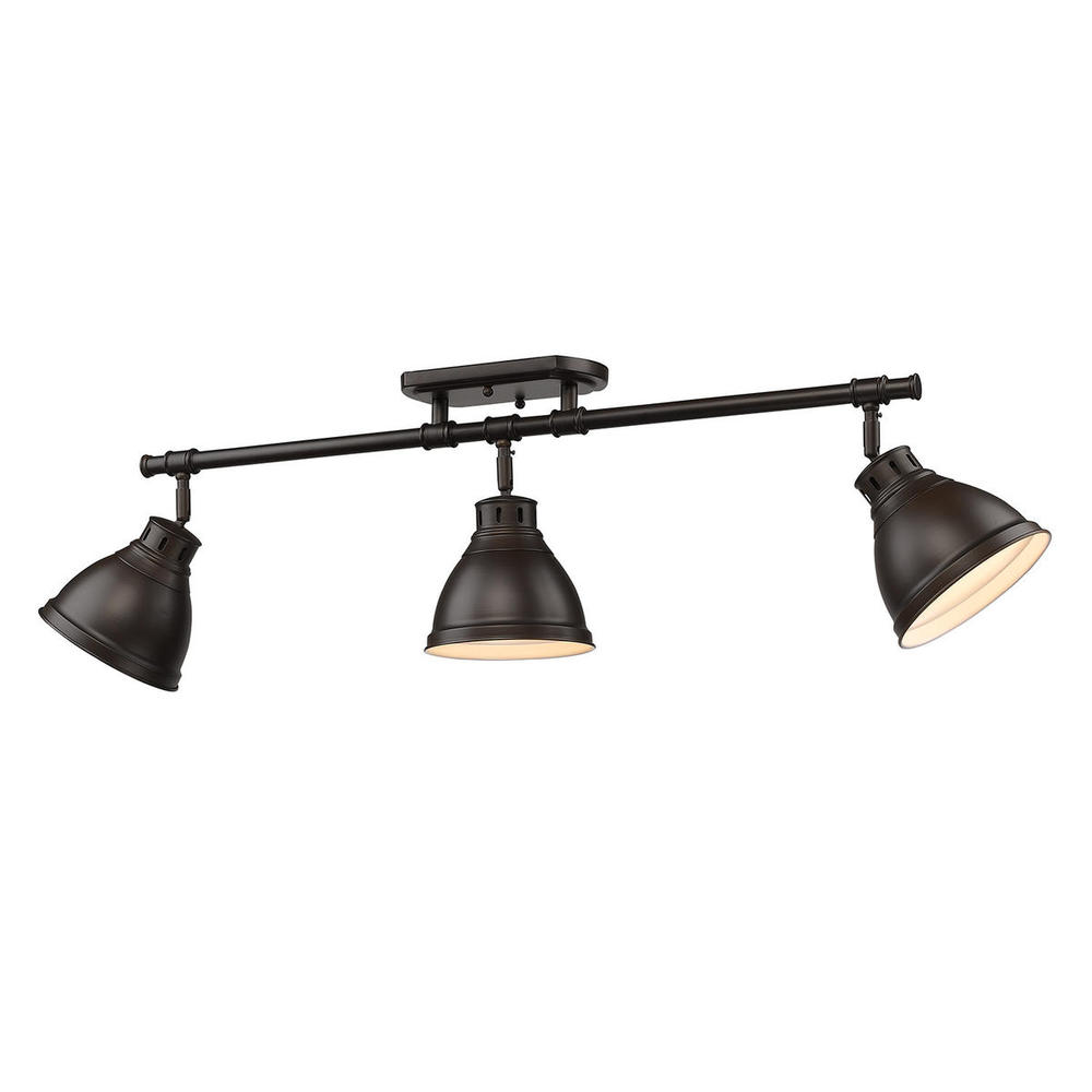 Golden Lighting 3602-3SF-RBZ Duncan Track Light, Rubbed Bron