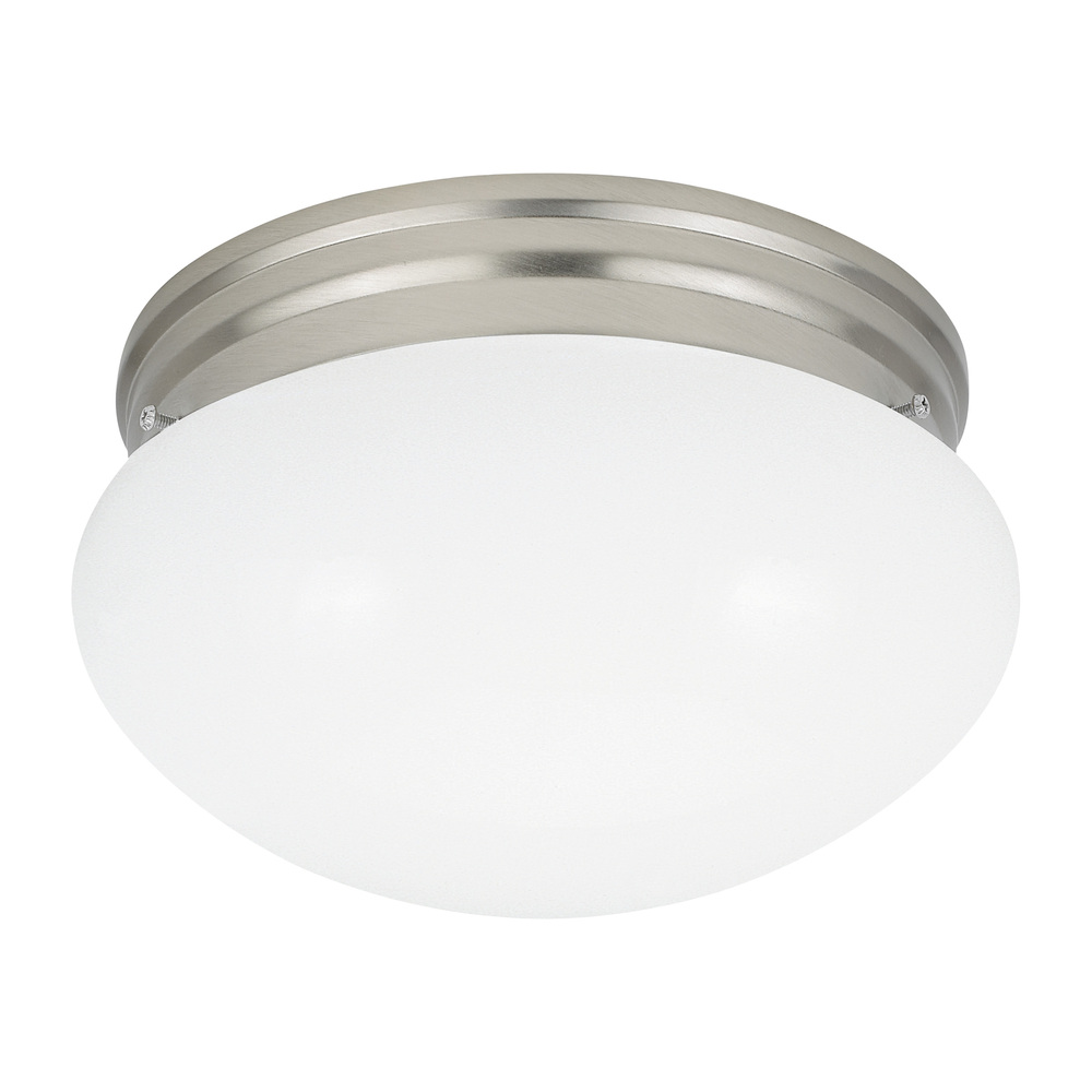 Details about sea gull lighting 5326 962 webster flush mount light brushed nickel