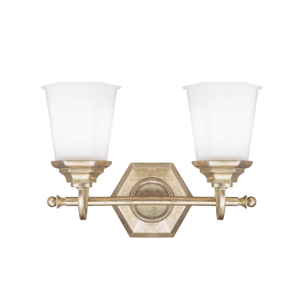 Details About Capital Lighting 1067wg 101 Fifth Avenue 2 Light Bathroom Winter Gold