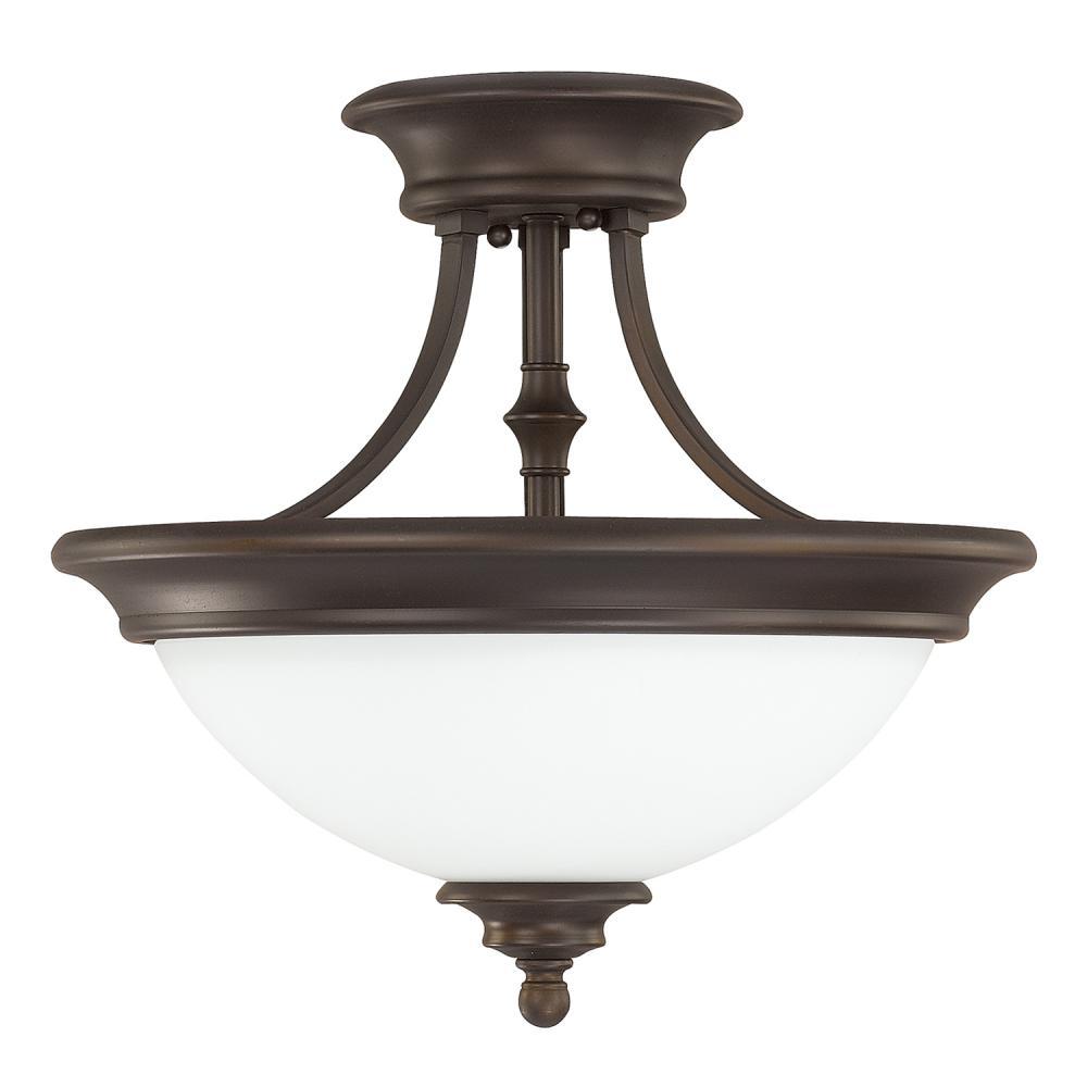 Details About Capital Lighting 3418bb Sw Belmont Semi Flush Mount Light Burnished Bronze