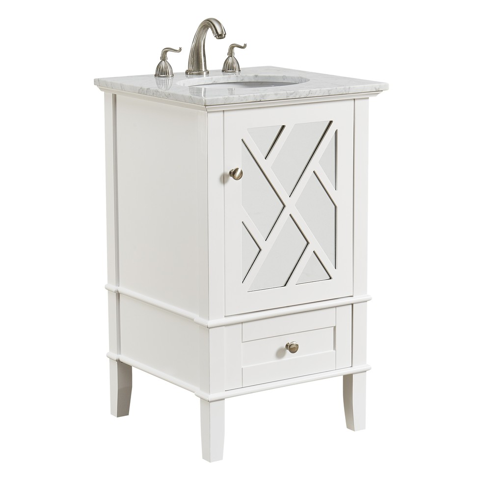Marvelous Details About Elegant Vf30221Wh 21 In Single Bathroom Vanity Set In White Download Free Architecture Designs Intelgarnamadebymaigaardcom