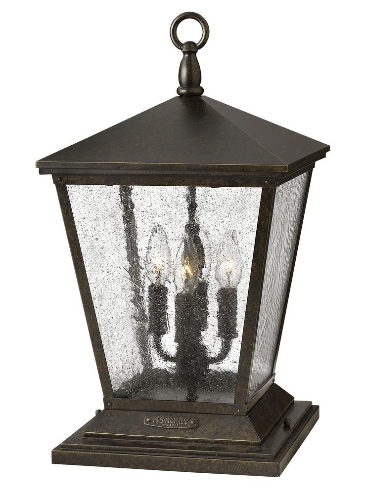 Details About Hinkley Lighting 1437rb Trellis Outdoor Pier Mount Light Regency Bronze