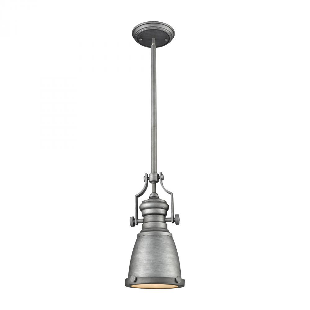 Details About Elk Lighting 66589 1 Chadwick Light Pendant In Weathered Zinc With